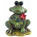 Puzzled Frog Decor W/Flower Decor ~ Puzzled