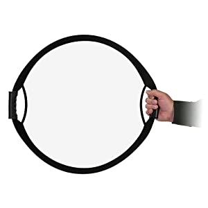 Fotodiox Pro 22 5-in-1 Handled Reflector Collapsible Disc w/Easy Hold Handles & Case: Diffusion, White, Black, Silver & Gold