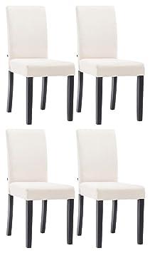4th set sala da pranzo sedia INA in tessuto nero crema