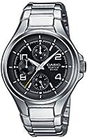 Casio - EF-316D-1A - Edifice - Montre Homme - Quartz Analogique - Cadran Noir - Bracelet Acier Gris