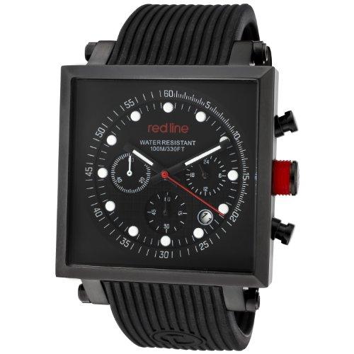 Red Line Compressor2 50036-BB-01 Stainless Steel Case Black Band Mineral Men's Quartz Watch