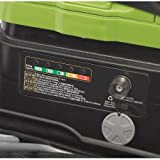 """Earthwise 18"""" Cordless Self Propelled Electric Lawn Mower - Green"""