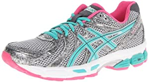 ASICS Women's GEL-Exalt Running Shoe,Lightning/Emerald/Hot Pink,8 M US