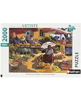 Nathan - 87859 - Puzzle - 2000 Pièces - Femmes au marché