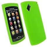 igadgitz Silikon Hülle Etui Case Schutzhülle Tasche in Grün für Samsung S8500 Wave Android Smartphone Handy + Display Schutzfolie