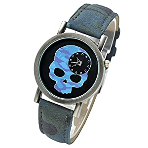 Smartbargain 33mm Women's Golden Day of Dead Sugar Skull Quartz Analog Watch from Smartbargain
