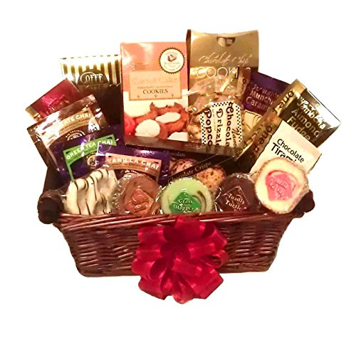 Gourmet Coffee, Tea, Fudge & Cookie Gift Basket By Goldspan Gift Baskets