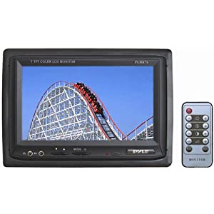 PYLE PLHR76 7-Inch Widescreen TFT/LCD Video Monitor with Headrest Shroud by Pyle