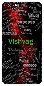 Vishvag (Lord Brahma) Name & Sign Printed All over customize & Personalized!! Protective back cover for your Smart Phone : Moto E-2 ( 2nd Gen )