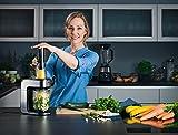 WMF KULT X Spiralschneider, 3 Schneideinsätze, ideal für Obst- und Gemüsenudeln, inkl. Auffangbehälter, cromargan matt/silber -