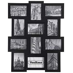 Vonhaus cornice porta foto multipla in legno con 12 for Cornici foto multiple