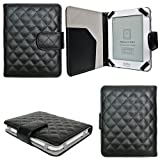 CaseGuru Bicast Leather Sapphire Luxury Wallet Case for 5 inch Kobo Mini eReader - Black