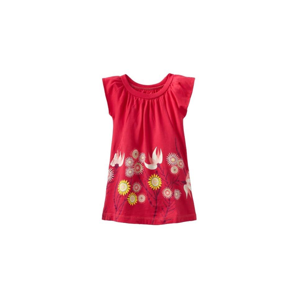Tea Collection Baby Girls Anemone Garden Mini Dress, Camille Pink, 12 18 Months