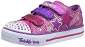 Skechers Kids 10249L TWINKLE TOES - S Light-up- Shuffles - Triple Up Light-up Sneaker (Little Kid)