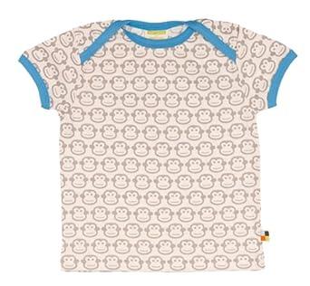 Loud + Proud Unisex - Baby T-Shirt T-Shirt, Animalprint, Gr. 122 (Herstellergröße: 122), Grau (Stone)