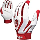 Rawlings BGP555A Pro Mesh Mens Baseball/Softball Batting Gloves Pair (Scarlet Red, Small), Small/Scarlet Red