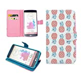 LG G3 Case,Nancy's Shop Sparkle Pattern Premium Pu Leather Wallet [Stand Feature] Type Magnet Design Flip Protective Credit Card Holder Pouch Skin Case Cover for LG G3[NOT for LG G3 vigor/Vista] (Built-in Credit Card/id Card Slot)-(Happy Pineapple Nancy's Shop Lg G3 Case Cover)