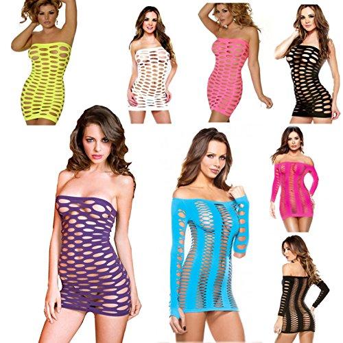 Seawhisper Kleid Minikleid Netzkleid Netz sexy trägerlosen Dessous