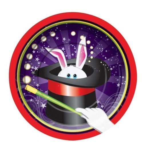 "Magic Party Rabbit 7"" Cake/Dessert Plates (8 ct)"
