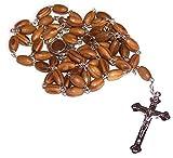 Olive Wood Rosary W/ Soil from Bethlehem- Velvet Pouch & Certificate
