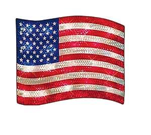 Amazon Com Lighted Usa Flag Indoor Outdoor Decoration