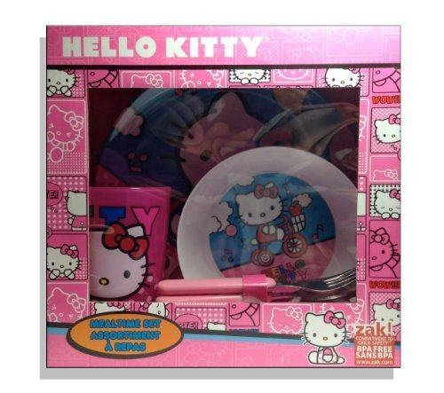 Hello Kitty Mealtime Set- 4 Piece - 1