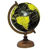 13 decorativo globo giratorio Negro Océano Mundial de la Tierra Geografía Decoración