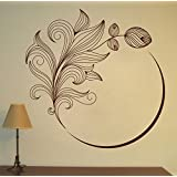 Decal Style Flower Swirl Wall Sticker Large Size-30*30 Inch - B00WSMVM2I
