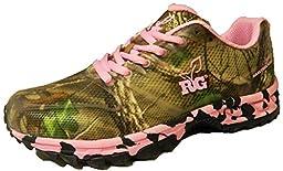 Realtree Women\'s Mamba Hiking Shoe, Pink/Extra Green, 10 D US