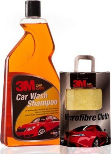 3M Combo of Shampoo (1 L) and Microfiber Cloth