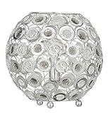 Oaks Lighting Tulsa Table Lamp in Polished Chrome with Smoke Acrylic Drops