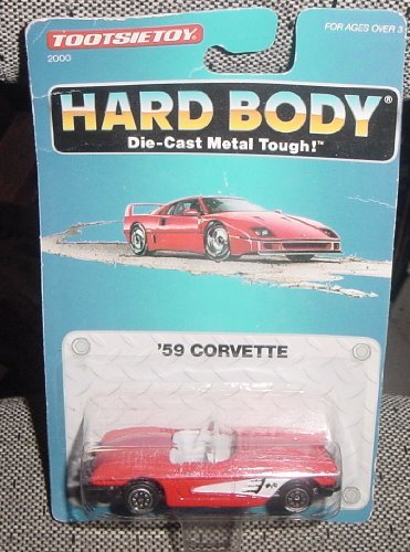1959 CORVETTE BY TOOTSIETOY 1992 HARD BODY DIE CAST METAL TOUGH MODEL - 1