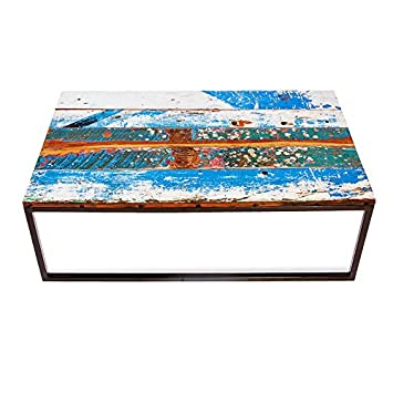 EcoChic Lifestyles Beach Buoys Reclaimed Wood Coffee Table