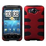 HTC Inspire 4g Titanium Red/black Fishbone Phone Protector Cover Case Mybat