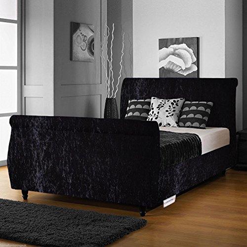 Beautiful Hfyou Limcho Crushed Velvet Sleigh Bed Frame