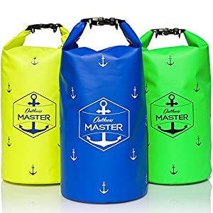 Outdoors MASTER Dry Bag - 20L Waterproof Bag, Floating Sack for Boating, Sailing, Rafting, Canoeing (Blue)