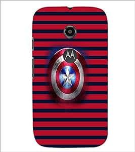 PrintDhaba Captain America Shield D-4545 Back Case Cover for MOTOROLA MOTO E2 (Multi-Coloured)