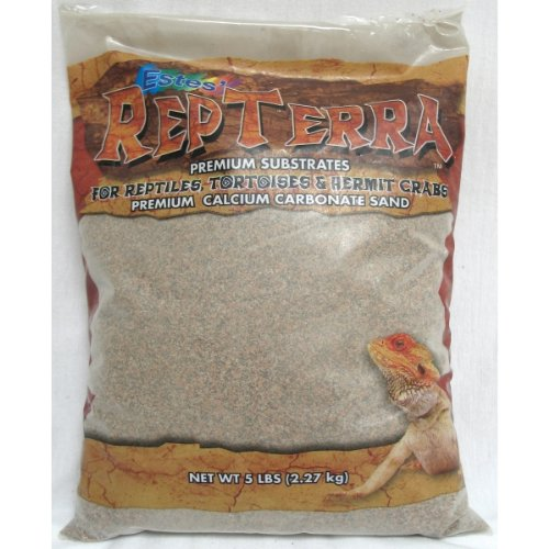 Estes Gravel Products SES60405 5-Pack RepTerra Reptile Calcium Carbonate Sand, 5-Pound, Granite Red