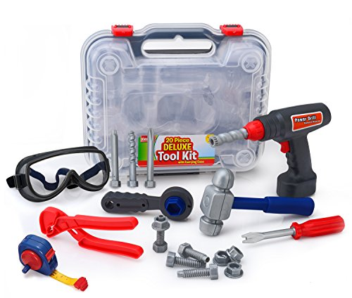 Kids Tool Set & Electronic Cordless Drill