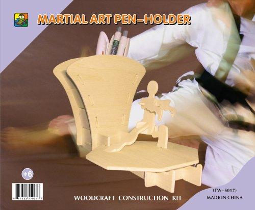 3d Wooden Puzzle-martial ART Pen-holder 6