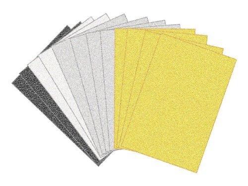 Foamies® Glitter Sheets - 12 pack Neutrals - 6 x 9 inch