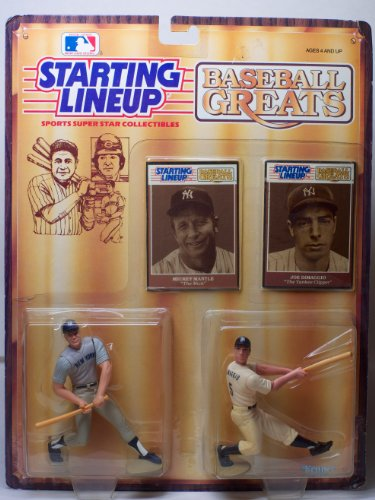 "Baseball Greats Mickey Mantle ""The Mick"" and Joe DiMaggio ""The Yankee Clipper"" Starting Lineup"