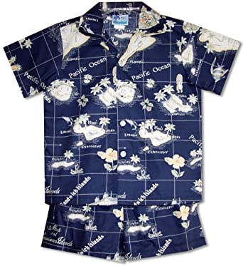 RJC Boys Hawaiian Island Paradise 2pc Set in Navy Blue - 18 Months