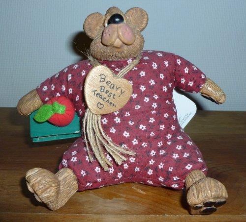 Miss Appleton Beary Best Teacher Teddy Bear Figurine