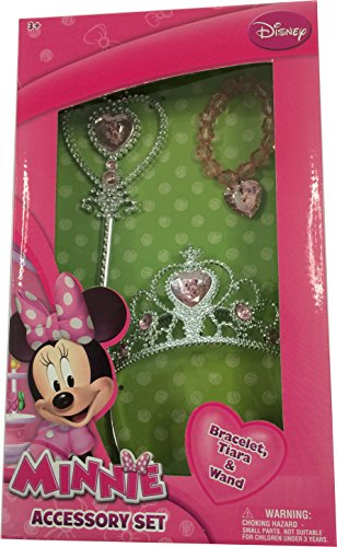 Minnie Mouse Tiara Wand and Bracelet Set