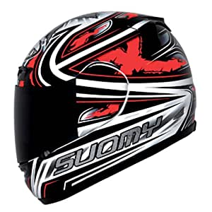 Suomy Apex  Helmet (Steely Red, Small)