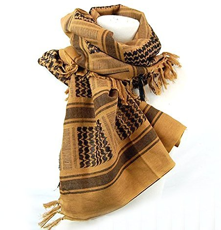 Dhana Style Afgan Stole Military Shemagh Tactical Shemagh Arab Desert Keffiyeh Neck & Head Scarf Wrap Turban Woven Cotton 100% (Tan) (Navy Seals Airsoft compare prices)