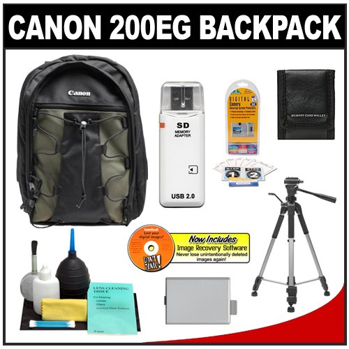 51WB2oO%2BeWL Canon 200EG Deluxe Digital SLR Camera Backpack Case + Tripod + LP E5 Battery + Accessory Kit for Canon EOS Rebel XS, XSi, T1i