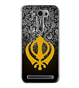 Khanda Sahab 2D Hard Polycarbonate Designer Back Case Cover for Asus Zenfone Selfie ZD551KL