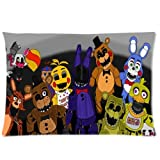 ARTSWOW 50% Polyester?50% Cotton Five Nights at Freddy Pillowcase with Zipper Rectangle Pillow Case Cover Standard Size Two Sides 20X26